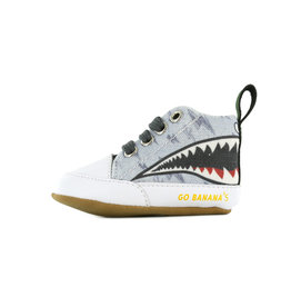 Go Banana's Newborn Soft sole M Shark Grey