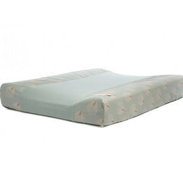 Nobodinoz Changing pad cover White Gatsby - Green