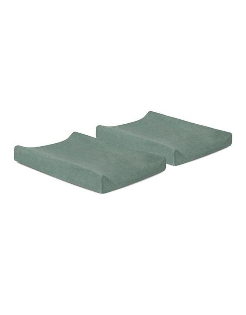 Jollein Aankleedkussenhoes Badstof 50x70cm - Ash Green - 2 Stuks