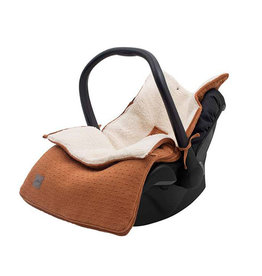 Jollein Voetenzak voor Autostoel & Kinderwagen - Bliss Knit - Caramel