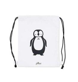 Jollein Rugtasje 30x35cm canvas - Pinguïn