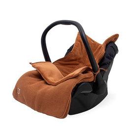Jollein Voetenzak voor Autostoel & Kinderwagen - Basic Knit - Caramel