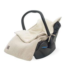 Jollein Voetenzak voor Autostoel & Kinderwagen - Bliss Knit - Nougat