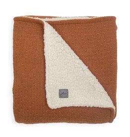 Jollein Ledikant Deken Teddy 100x150cm - Bliss Knit - Caramel