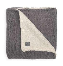 Jollein Wieg Deken Teddy 75x100cm - Bliss Knit - Storm Grey