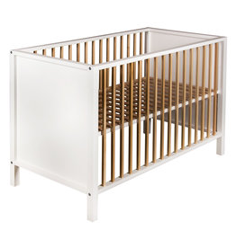 Quax Bed Nordic 120 * 60 Cm - White & Naturel