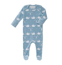 Fresk Pyjama Whale Blue Fog 0-3m
