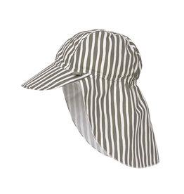 Lässig Sun Protection Flap Hat Stripes Olive