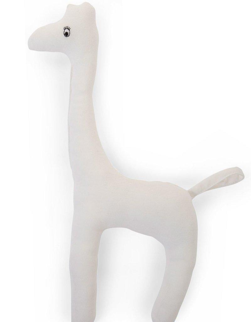 Childhome Baby Giraf Knuffel Jersey Wit