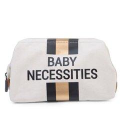 Childhome Baby Necessities Toilettas - Ecru Strepen Zwart/Goud