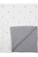 Childhome Babydeken 80x100 Cm - Jersey Gold Dots