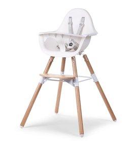 Childhome Evolu 2 Kinderstoel - Verstelbaar In Hoogte - Naturel Wit