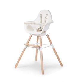 Childhome Evolu One.80° Kinderstoel - Verstelbaar In Hoogte - Naturel Wit