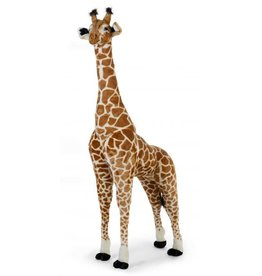 Childhome Staande Giraf Knuffel 65x35x180 Cm - Bruin Geel