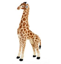 Childhome Staande Giraf Knuffel 50x40x135 Cm - Bruin Geel