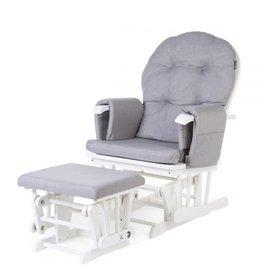 Childhome Gliding Chair Schommelstoel Rond Met Voetsteun - Hout Canvas Grijs