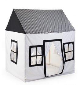 Childhome Groot Speelhuis 125x95x145 Cm - Katoen Polyester Zwart Wit