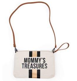 Childhome Mommy's Treasures Clutch - Ecru Strepen Zwart/Goud