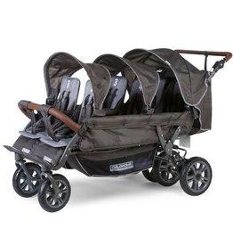 Childhome Sixseater Wandelwagen Met Autobrake + Regenhoes + Zonnekappen - Antraciet