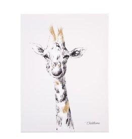 Childhome Schilderij - Giraf + Goud - 30x40 Cm