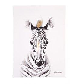 Childhome Schilderij - Zebra + Goud - 30x40 Cm