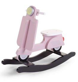 Childhome Schommel Scooter - MDF Roze Zwart