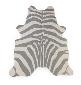 Childhome Kindertapijt Zebra 145x160 Cm - Grijs
