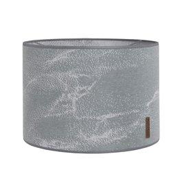 Baby's Only Lampenkap 30 cm Marble grijs/zilvergrijs