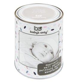 Baby's Only Muurverf 1 liter zilvergrijs