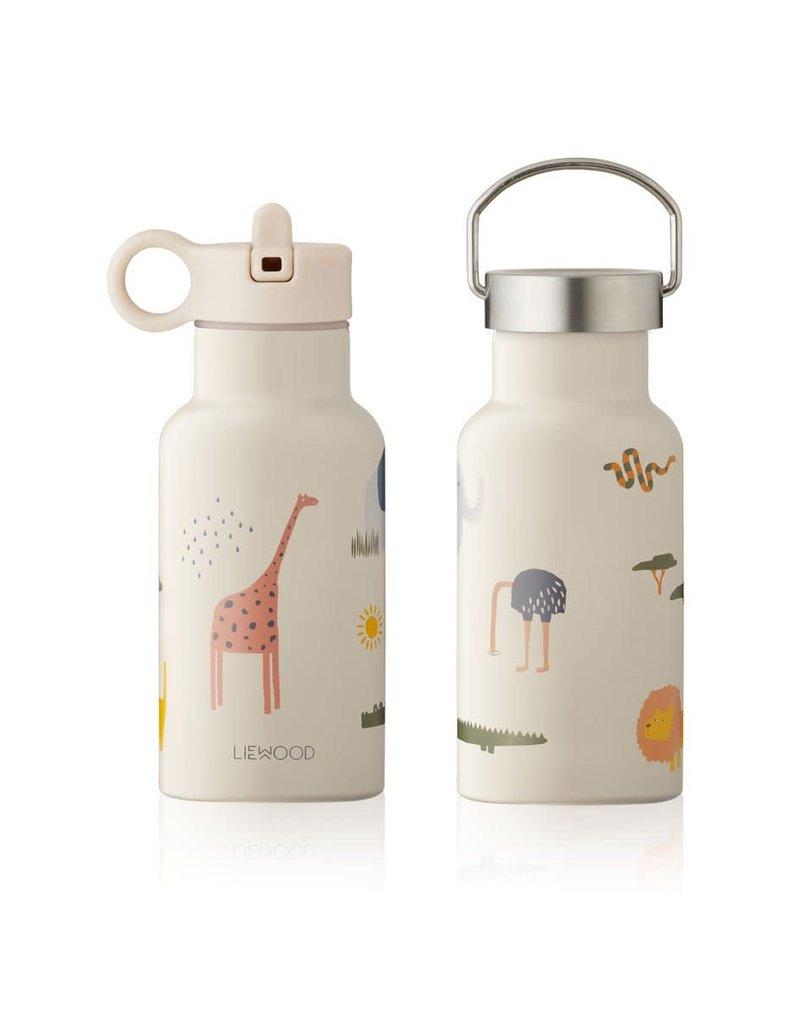 Liewood Anker Water Bottle - 350 ml - Safari sandy mix
