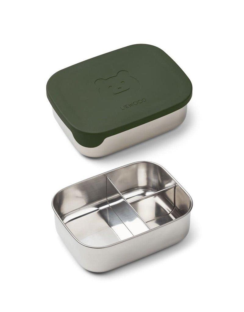 Liewood Arthur Lunch Box - Mr bear hunter green