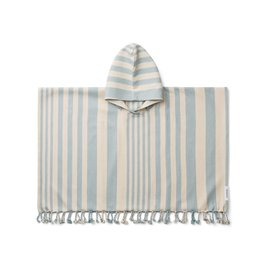 Liewood Copy of Roomie Poncho Stripe Mosterd/Creme