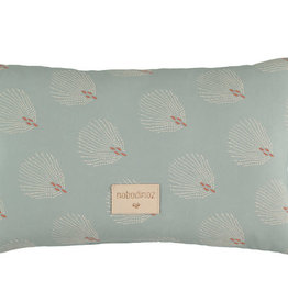 Nobodinoz Laurel Small Cushion White gatsby / Antique green
