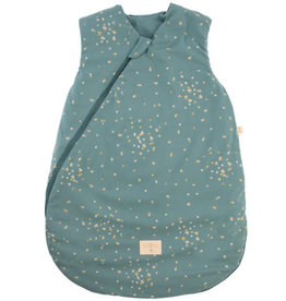 Nobodinoz Cloud mid season sleeping bag 6-18m Gold confetti / Magic green