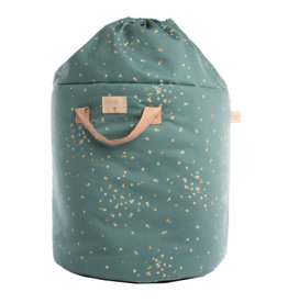 Nobodinoz Nobodinoz Bamboo toy bag gold confetti/ magic green