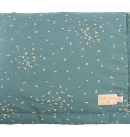 Nobodinoz Laponia blanket Small 140x100 Gold confetti / Magic green