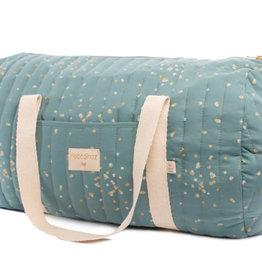 Nobodinoz New York Weekend bag Gold confetti / Magic green
