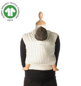 Babylonia Porte-bébé - Design tricot-slen - Rayures crème - Taille unique