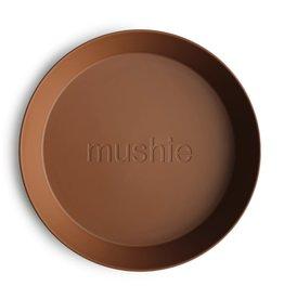 Mushie Round Dinnerware Plates, Set of 2 (Caramel)