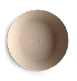 Mushie Round Dinnerware Bowl, Set of 2 (Vanilla)