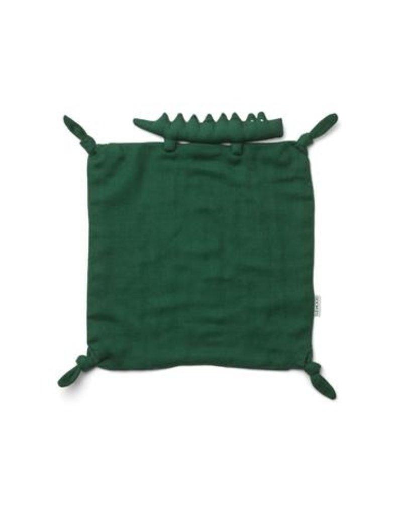 Liewood Agnete Cuddle Cloth - Crocodile garden green