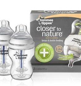 Tommee Tippee Fles set van 2 Tommee Tippee anti-colic 260 ml