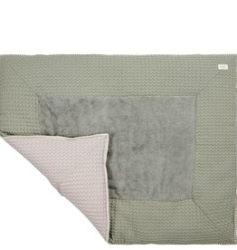 Koeka Boxkleed wafel Amsterdam 80x100 shadow green/misty grey