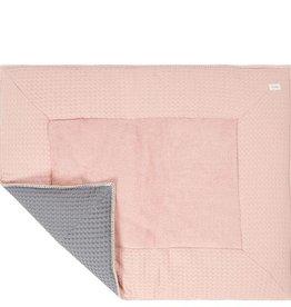 Koeka Boxkleed wafel Amsterdam 80x100 shadow pink/steel grey