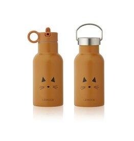 Liewood Anker Water Bottle - 350 ml - Cat mustard