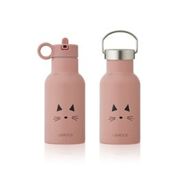 Liewood Anker Water Bottle - 350 ml - Cat rose