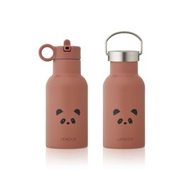 Liewood Anker Water Bottle - 350 ml - Panda dark rose