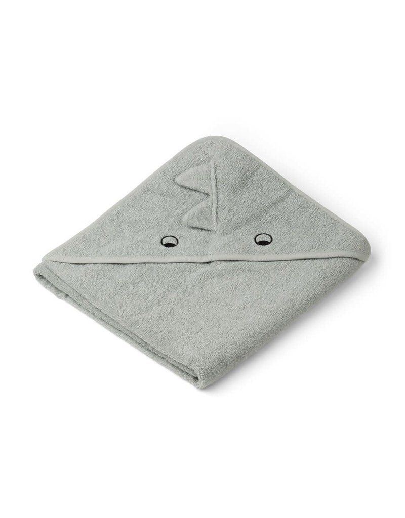 Liewood Augusta Hooded Junior Towel - Dino dove blue mix
