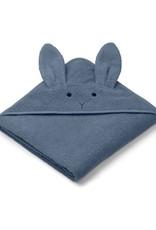 Liewood Augusta Hooded Junior Towel - Rabbit blue wave