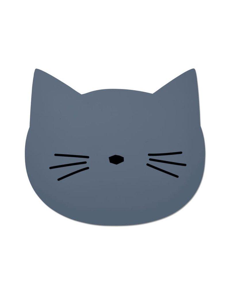 Liewood Aura Placemat - Cat blue wave